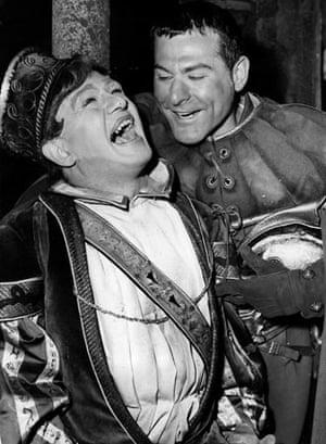 Sam Wanamaker and Peter Woodthorpe in Othello
