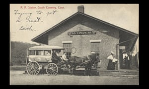 Postcard Station South Coventry Connecticut 1900s