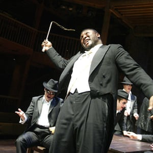 Nonso Anozie as King Lear at the Swan theatre in 2002