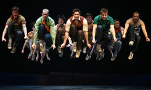A scene from the bilingual West Side Story on Broadway