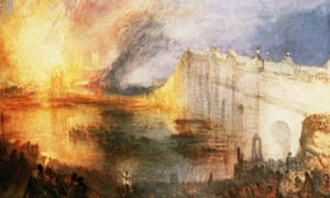 The Burning of the Houses of Lords and Commons, 1834 by JMW Turner