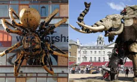 Liverpool's giant spider and the Sultan's Elephant in London