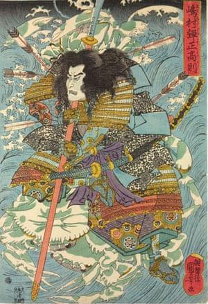 Kuniyoshi: Ghost of the drowned warrior ..., by Utagawa Kuniyoshi