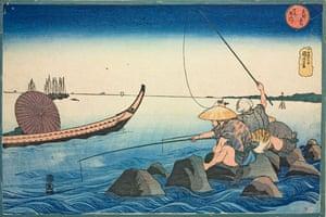 Kuniyoshi: Fishermen at Teppozu, by Utagawa Kuniyoshi.
