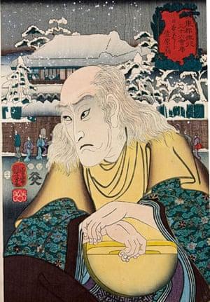 Kuniyoshi: Kabuki actor Onoe Kikugoro III as Old Man Kasahara, by Utagawa Kuniyoshi
