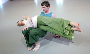 A scene from In Plain Clothes by Siobhan Davies Dance in 2006