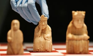 The Lewis Chessmen at the British Museum