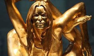Siren, 2008, a gold statue of Kate Moss by Marc Quinn