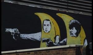 Banana wall near Old Street, London by Banksy