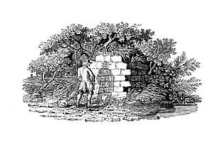 Thomas Bewick: Man pissing against a wall, Thomas Bewick