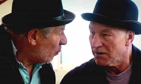 Patrick Stewart and Ian McKellen in rehearsals for Waiting for Godot