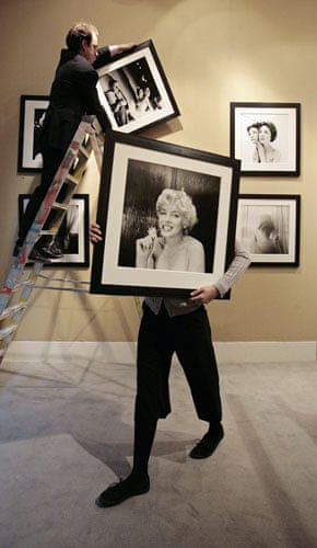 Week in art : Photographic portrait of Marilyn Monroe by photographer Cecil Beaton