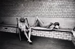 Don McCullin: two men relaxing in baths, Don McCullin
