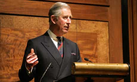 Prince Charles at the Royal Institute of British Architects