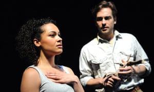 Naomi Bentley and Tom Mison in When the Rain Stops Falling