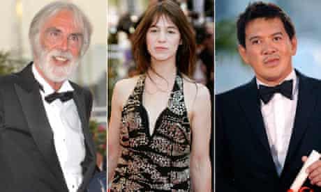 Cannes winners Michael Haneke, Charlotte Gainsbourg and Brillant Mendoza