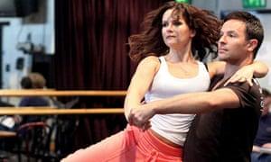 Lilia Kopylova and Darren Bennett rehearse Latin Fever