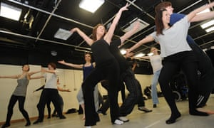 RADA foundation class in movement/dance