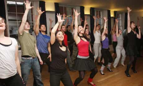 Musical theatre class at the Royal Academy of Music