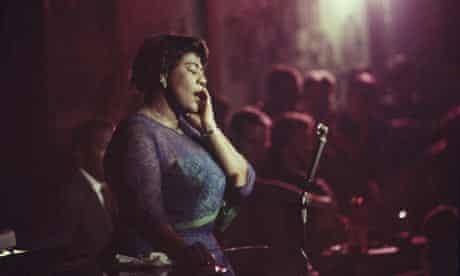 Jazz singer Ella Fitzgerald performing at Mr. Kelly's