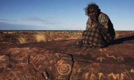 Aboriginal rock carving, Burrup, Australia