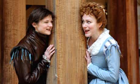 Naomi Frederick and Laura Rogers in As You Like It at the Globe