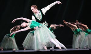 Tamara Rojo and Edward Watson in Emeralds from  Jewels by the Royal Ballet