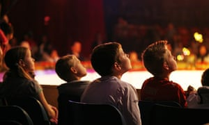 Children in the audience at the circus