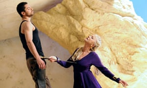 Helen Mirren as Phèdre and Dominic Cooper as Hippolytus at the National