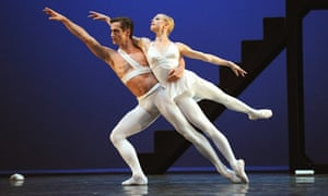 Agnes Oaks and Thomas Edur in Apollo, part of English National Ballet's Ballets Russes tribute