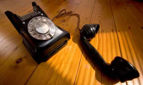 Old vintage Bakelite telephone, possibly a GPO 332