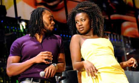 Arinze Kene (Raymond) and Naana Agyei-Ampadu (Yvonne) in Been So Long at the Young Vic