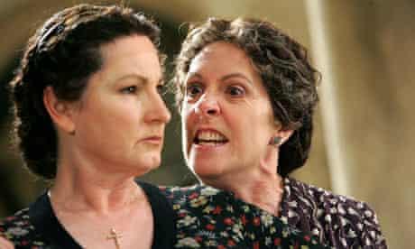Deborah Findlay as Poncia and Penelope Wilton as Bernarda Alba in The House of Bernarda Alba