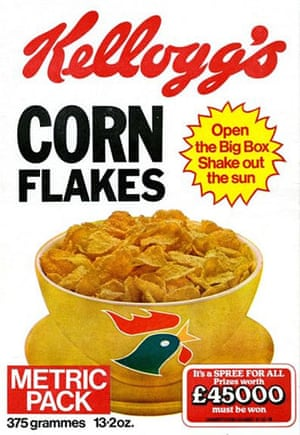 Corn Flakes: Corn Flake packet in the 1970s