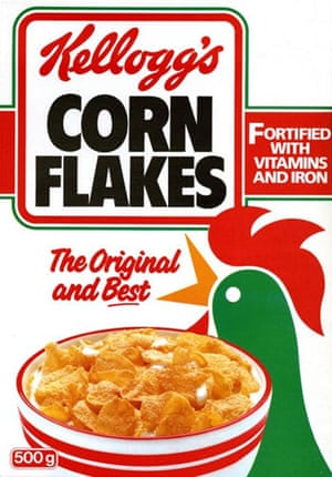 Corn Flakes: Corn Flake packet in the 1980s