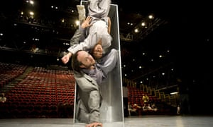 Sidi Larbi Cherkaoui with a performer from Sutra at Sadler's Wells