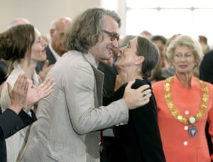 Pina Bausch: Pina Bausch and Wim Wenders at Goethe Prize ceremony, 2008