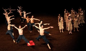 A scene from The Rite of Spring by Pina Bausch