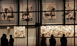Parthenon marbles at the New Acropolis Museum