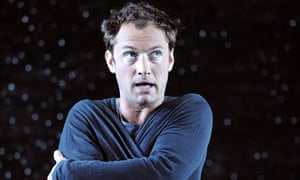 Jude Law as Hamlet at Wyndham's theatre, London