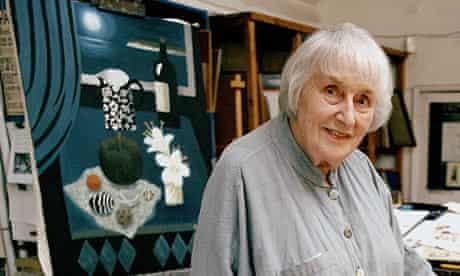 Mary Fedden, the artist, in her studio