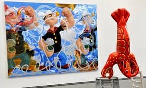 Jeff Koons: Acrobat, Popeye Series, Serpentine Gallery