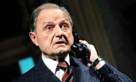 Peter Bowles as Andrew Crocker-Harris in The Browning Version at Theatre Royal, Bath