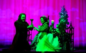 William Joyner as Andre and Janis Kelly as Madame in Prima Donna at Palace theatre in Manchester