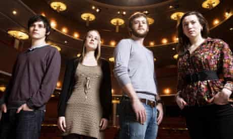 Four students at the Royal Scottish Academy of Drama and Music