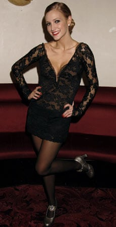 Ashlee Simpson as Roxie Hart in Chicago, at the Cambridge theatre in 2006