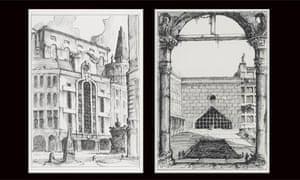 pablo bronstein, postmodern architecture of london