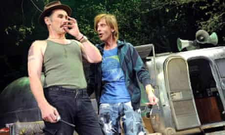 Mark Rylance and Mackenzie Crook in Jerusalem at the Royal Court