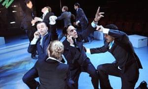 A scene from Enron at Minerva theatre, Chichester