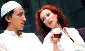 Jonathan Bonnici and Tanya Franks in The Black Album at the Cottesloe theatre